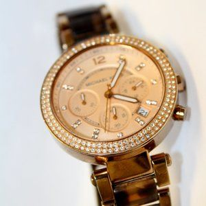 Michael Kors 2 tone chronograph watch